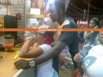 K Michelle And Lance Stephenson ... nba playoffs last season k michelle and lance stephenson are official