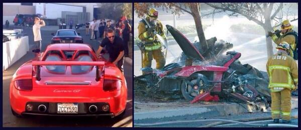news actor paul walker was not the driver in fatal crash by reports photo before crash. Black Bedroom Furniture Sets. Home Design Ideas