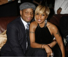 LOS ANGELES, CA. - FEBRUARY 10: Kendu Isaacs and singer Mary J. Blige at UMG's Grammy Celebration at the Palm Restaurant on February 10, 2008 in Los Angeles, CA. (Photo by Jeffrey Mayer/Wireimage) *** Local caption *** Kendu Isaacs;Mary J. Blige
