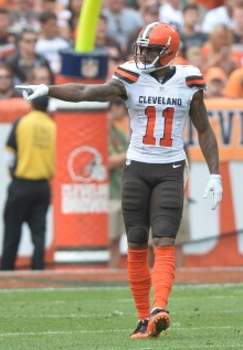 Sep 18, 2016; Cleveland, OH, USA; Cleveland Browns wide receiver Terrelle Pryor (11) at FirstEnergy Stadium. Mandatory Credit: Ken Blaze-USA TODAY Sports