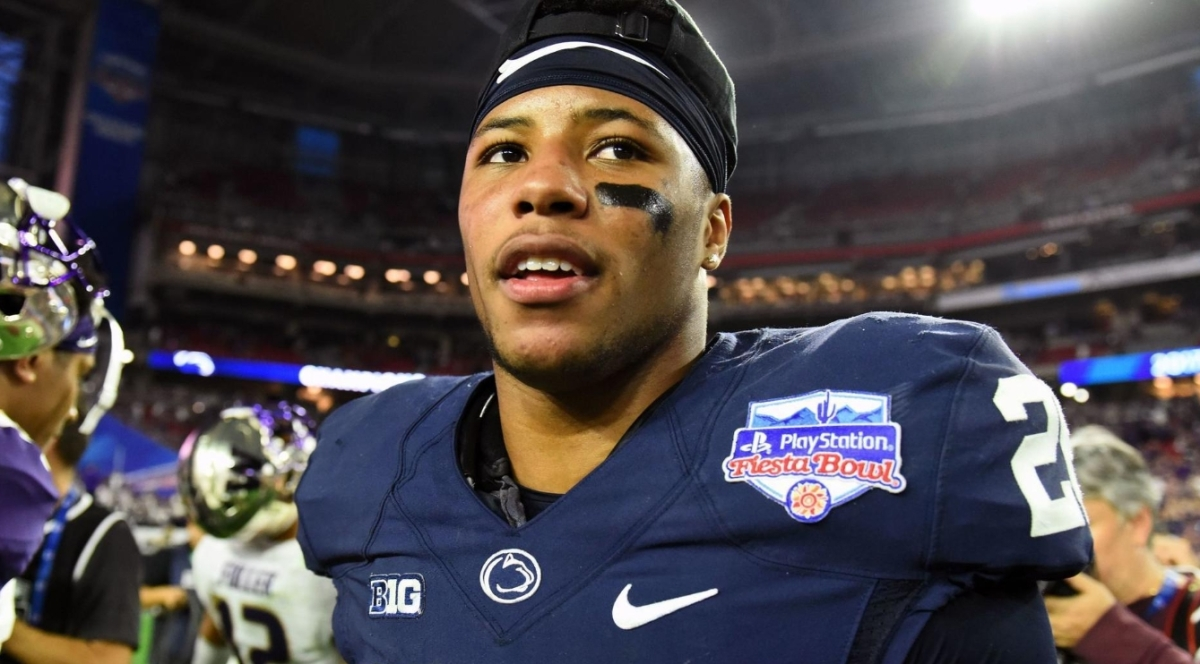 Saquon Barkley's Pregnant Girlfriend Due Same Time As NFL Draft (PIC)